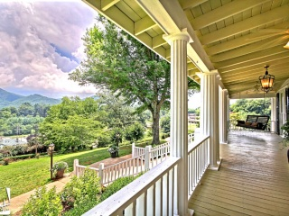 Rabun Manor front portch mountain view